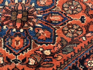 Persian Kurdish Hamadan, early 20th century, 3-8 x 6-3 (112 x 190), very good condition, hand washed, full pile, one end original braided end, plus shipping.