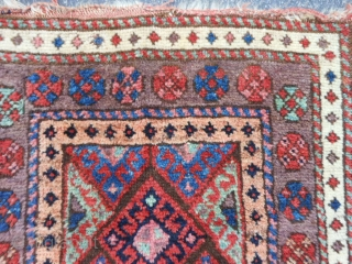 Persian Jaf Kurd Bag Face, late 19th century, 1-10 x 1-10 (.56 x .56), rug was hand washed, good condition, good pile, plus shipping.