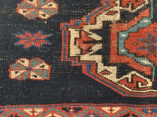 Persian Veramin Torba,  late 19th century,  1-7 x 3-7 (48 x 109),  good pile,  rug was hand washed,  one hole,  2 - six inch creases that  ...