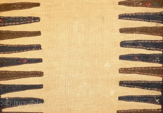 Kordi Sofreh Kilim, Late 19th century. Camel wool field. Wonderful colors on the ends. 73 x 193 cm