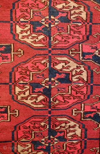 Tekke Turkmen Wedding Rug, Late 19th/early 20th century. These small format rugs were generally woven as a part of the dowry and were used for the bride and the groom to stand  ...