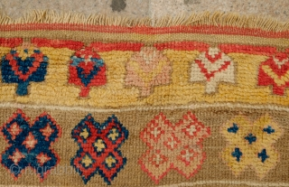 Konya or Cappadocia Long Rug, mid-19th Century.  Wonderful Anatolian rug from the area.  In good condition. There is a strip with lighter colors towards the top but only in one  ...