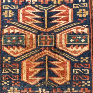 "Shahsavan Soumac Bag Face, wool & cotton, 17 1/2"" x 17"".  Very Good Condition.  SOLD"