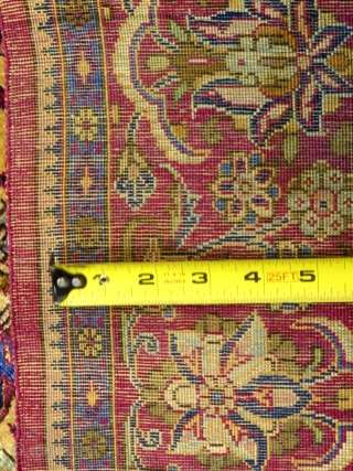 """Antique Silk Kashan Prayer Rug, c.1900+/-, 80"""" X 50"""", excellent condition, small,  1"""" tear on upper left edge, SOLD..."""