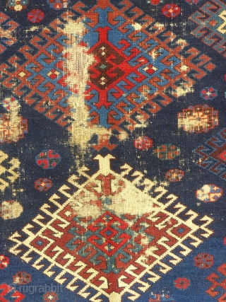 Antique Caucasian Prayer Rug, c. 1875-1900, Interesting but worn. Price, more photos and details on request...SOLD