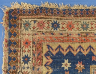 "Antique Chondzoresk or Cloudband Kazak Fragment, 100"" X 53"",