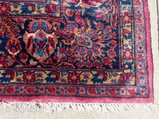 """Antique Sarouk Carpet, c.1920-30+/-, 14'6"""" X 9'9"""", Very Excellent Condition. Available..."""
