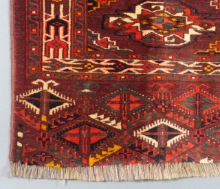 "Turkoman Juval, Wool, 20th Century, 31"" X 49"". Excellent Condition has a little mild bleeding.."