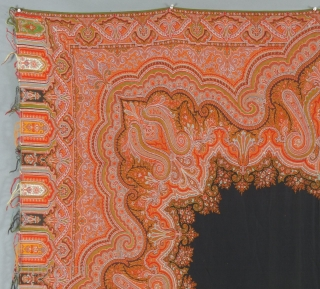 "Paisley Shawl, 71"" X 72"", Excellent condition,