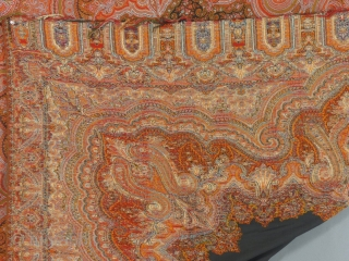"""Paisley Shawl, 71"""" X 72"""", Excellent condition,  No holes or moth damage. Reasonably priced,  SOLD"""
