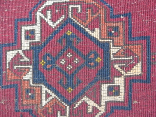 Its an old turkmen bag face good colors and good condetion