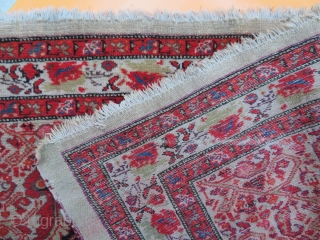 Antique Malayer on camel background.