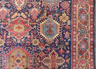 Antique Karadjeh main carpet   302 x 217 cm  Few moth damage at one end.  Smooth price.
