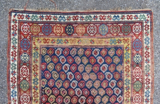 Antique superb Gendje caucasian carpet of the second half of the 19teen century.