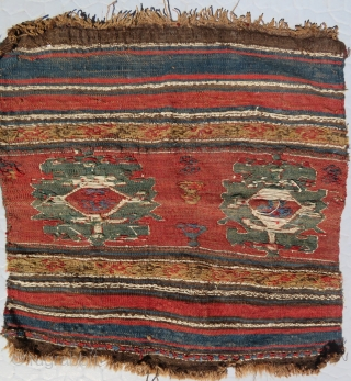 ANTIQUE SHAHSAVAN BAG FRAGMENT. 19.Century