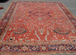 Antique Heriz.  372 x 295 cm  32 KG  More pics available  Buyer must organize and pre-pay shipping.  We provide proper packaging