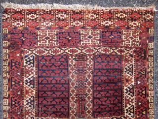 Antique Jomud Yomut Engsi fragment 19 teen century 155 X 104 CM some damages and repairs