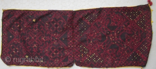 FINE PAIR OF SWAT VALLEY EMBROIDED SILK PILLOW COVERS SAWNED TOGETHER 104 X 40 cm