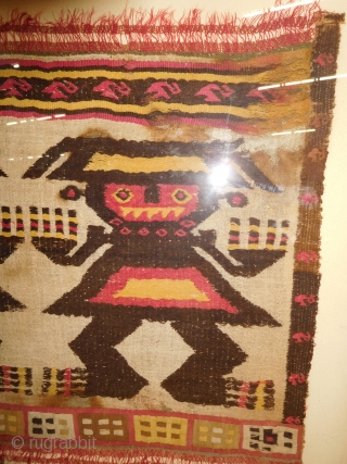 wonderful Pre-Columbian Peruvian tapestry textile framed 