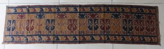 Small Palepai ceremonial cloth for ceremonial occasion from Lampung south Sumatra Indonesia, Paminggir people handspun cotton natural dyes supplementary weft weave, rare  with figure motif, good condition except two small old  ...