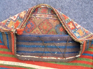 c.1890 JAF BAG....approx. 2.7 x 2.2, with overall wear.....checks drawn on U.S. banks preferred....  Thanks to R.R. for providing this site.....Please ask....Sincerely, Ed Briggs.