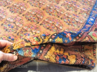 Kurdish full pile, glossy wool. in mint condition. wool on wool. good colors and great quality. size cm 263x120