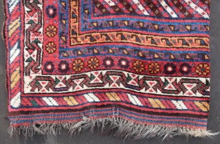 """Lur, Luri, Luristan, See also; John J Collins,Jr. """"Shiraz"""" plate 1 . Full original pile, with kilim top and bottom end. Wool on wool, cleaned, washed, good colors. Ca; 330 cm x  ..."""