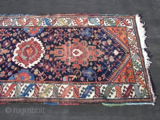 Bachtiar, single weft,all natural colored, wool on cotton. c-condition, ( some wefts visible, see picture.) ca. 320 cm x 115 cm. Old, ca. 1920-1930. Cleaned and washed. Enjoy. !