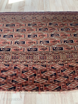 Antik Turkmen Chuval Tekke size 133x65 in perfect condition, without repair