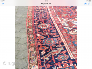 Very nice antique Heriz carpet in good condition with nice color and tradishional patterns at very reasonable price 335 x 250 cm