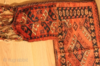 TURKMEN Penjerelik . turkman hung on the door of the house yoruk . Natural color .  19th Century .  Good Condition . Clean and hand washed . 