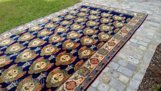 Extremely seldom and huge Sarouk Palace - Carpet, ca.706 x 337 cm (!), approx. 278 x 133 inches.
