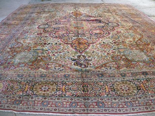 tehran, palace size rug 15 feet by 21 feet. mint condition. This late 18 century palace rug is in mint condition, 