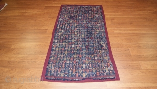 19th century verneh from the caucasus very unusual design. size 2.11x6 ft.
