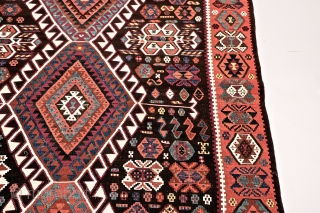 "East Anatolian Kars Kagizman kilim. Probably early 1900's. In perfect condition. All natural colors. 420 x 144cm/ 13'9.35"" x 4'8.69"""