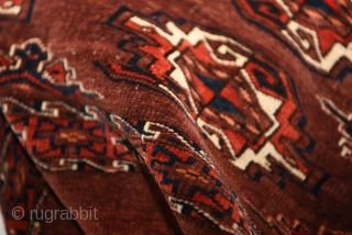 Late 19th century Turkmen Yomut chuval. 117cm x 75cm.  In good condition.