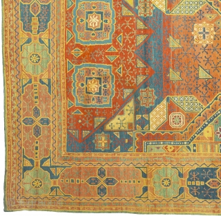 Antique France Pile Aubusson Rug