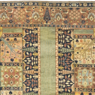 """Antique Indo-Persian Rug India ca.1900 18'5"""" x 12'2"""" (562 x 371 cm) FJ Hakimian Reference #09086"""