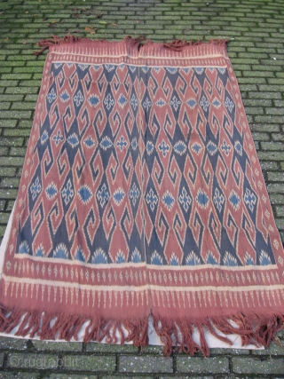 Indonesian Sulawesi Ikat, made w. Ananas leaves. 120 x 188 Cm. 1 small hole. For more; http://indonesia-textile.blogspot.com