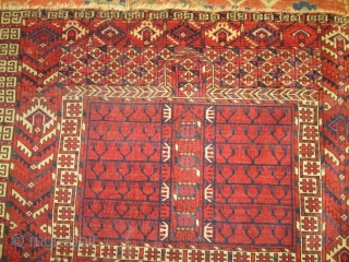 Antique Yomud Turkoman Rug.   size 5'x3'11'' condition very good low even pile.nice colors good knots quality.