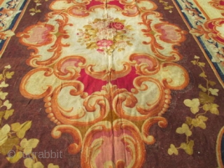 18th Century A Napoleon lll Aubusson Carpet France.  size 13'3''x16'2''. very good condition.