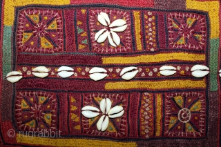Banjara Gala From Karnataka,South India.C.1900.Embroidered on cotton.Gala is Traditionally Used by Women to Carry Pots on their Heads.Its size is 25cm X 29cm.(DSL03500).