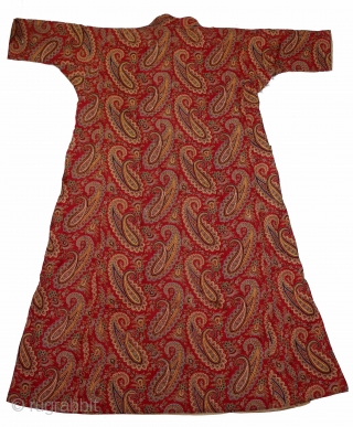 Indian Mughal Robe Roller Print from Manchester England made for Indian Market,India.Circa 1870.Royals family Rajasthan India.Its Size is W-70cm x L-148cm.(DSL02730).
