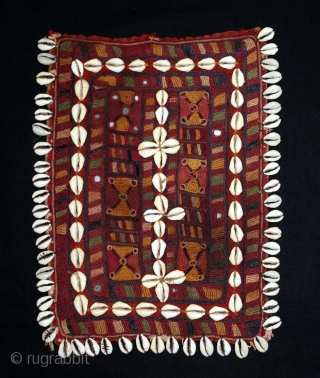 Banjara Gala From Karnataka, South India.C.1900. Embroidered on Cotton. Gala is Traditionally Used by Women to Carry Pots on their Heads. Its size is 24cm x 30cm.(DSL04230).