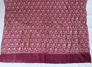 Dhakai Sari pure Silk Fabric From West Bengal India. Buti is(Real Silver and Gold).The weaving tradition which originated in Dhaka.Buti (Flower motif),and Jali (lattice).Very rare sari.Good condition.(DSC00920).