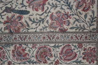 Kalamkari Palampore From South India. Made for Export Market.C.1900.Its size is 60cm X 60cm.(DSL03560).
