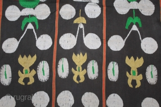 Naga Man's Shawl from Manipur region India. Manipur for use by Eastern Angami Nagas,C.1930.Cotton embroidered with floss silk. Its size is W-118cm X L-192cm.(DSL02260).