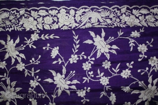 Parsi Gara Sari From Surat Gujarat India.This bird motif is called As chakla- chakli.The gara sari soon became a symbol of the Zoroastrian culture and traditions.Gara is the gujrati word for sari,  ...