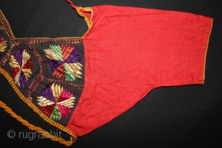 Women Blouse Backless(Choli) from Himachal Pradesh,Chamba India.C.1900.(DSL02150).