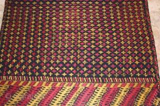 Vintage Phulkari from East (India) Punjab Indai Called As Indigo Black Star Buti,Very Rare Design of Phulkari.Good Condition.(DSC00460)